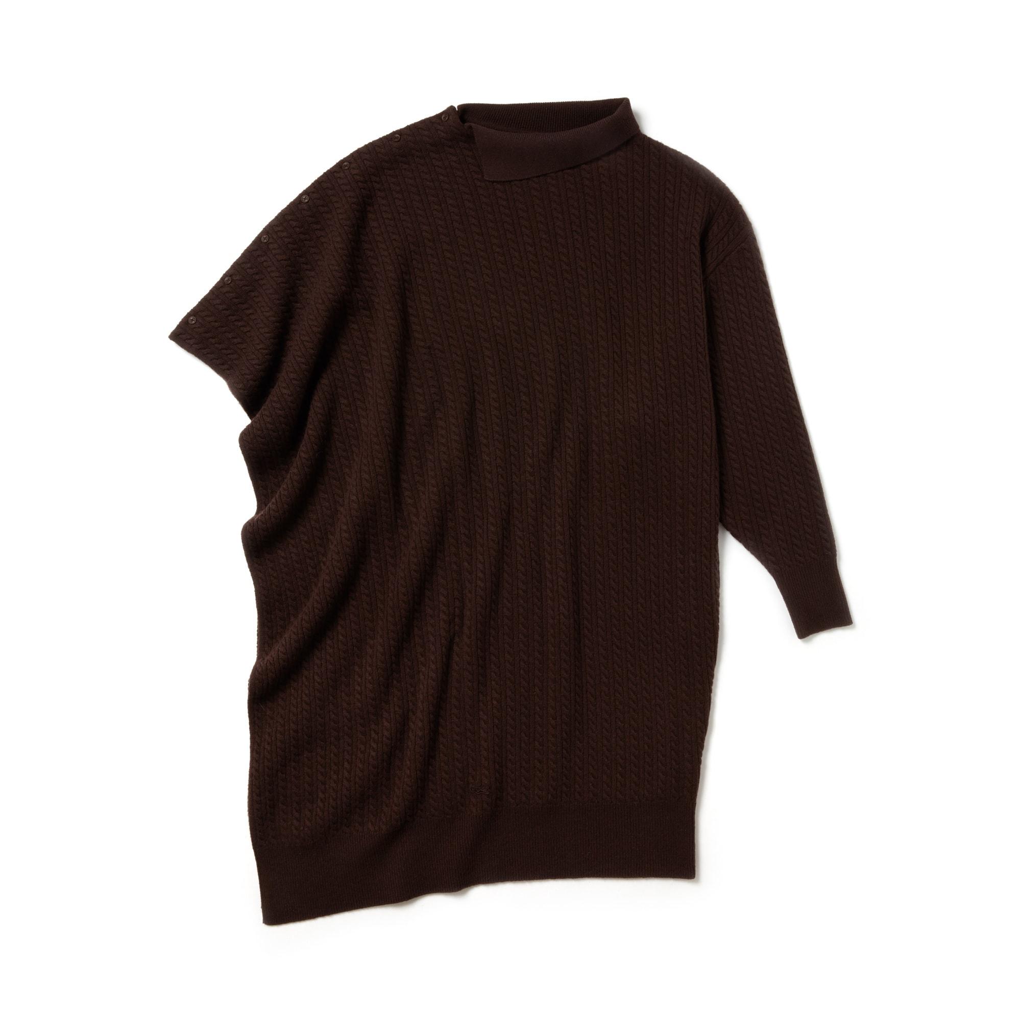 时尚不对称衣袖羊毛羊绒混纺面料女裙