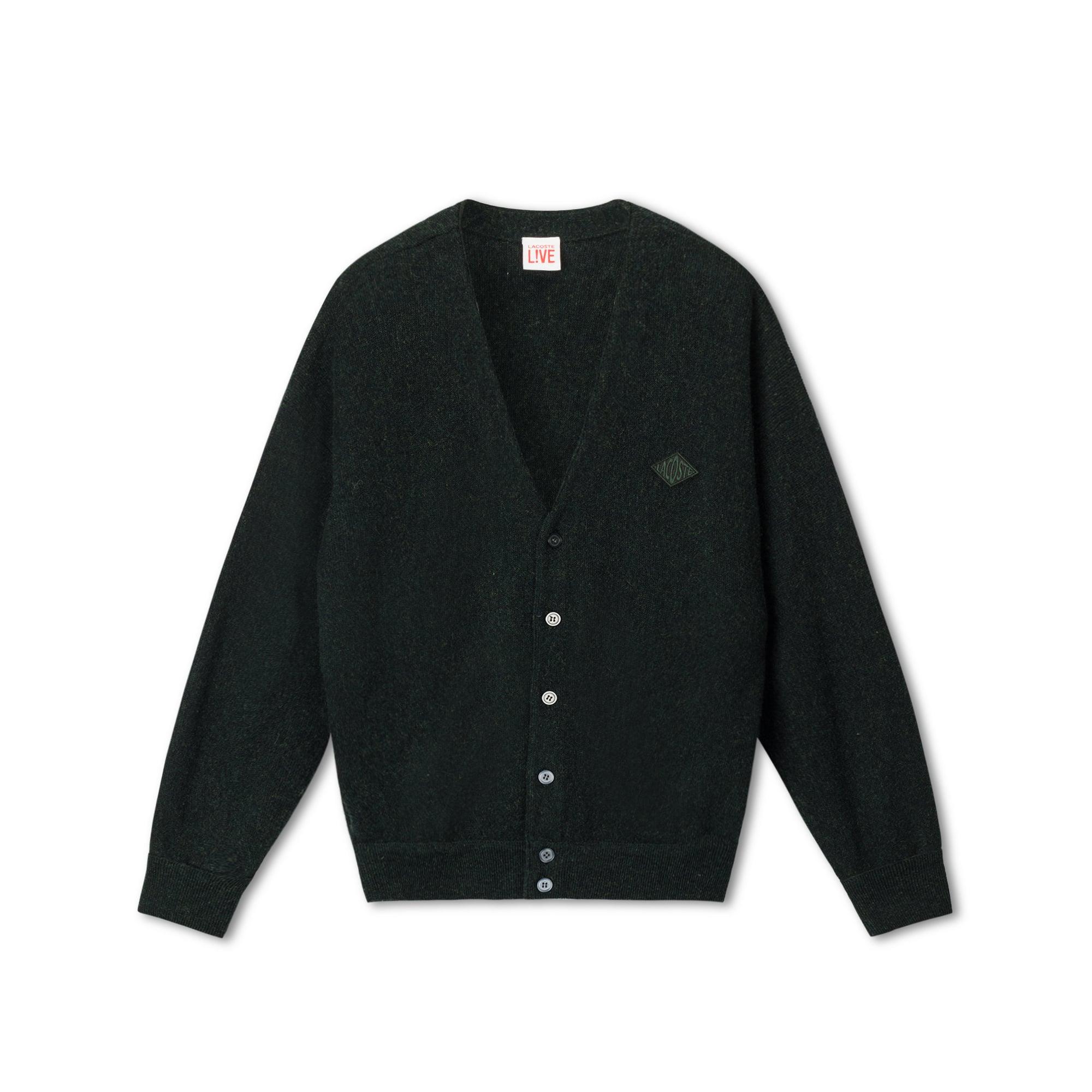 Lacoste Live系列羊毛针织男士徽章开襟羊毛衫