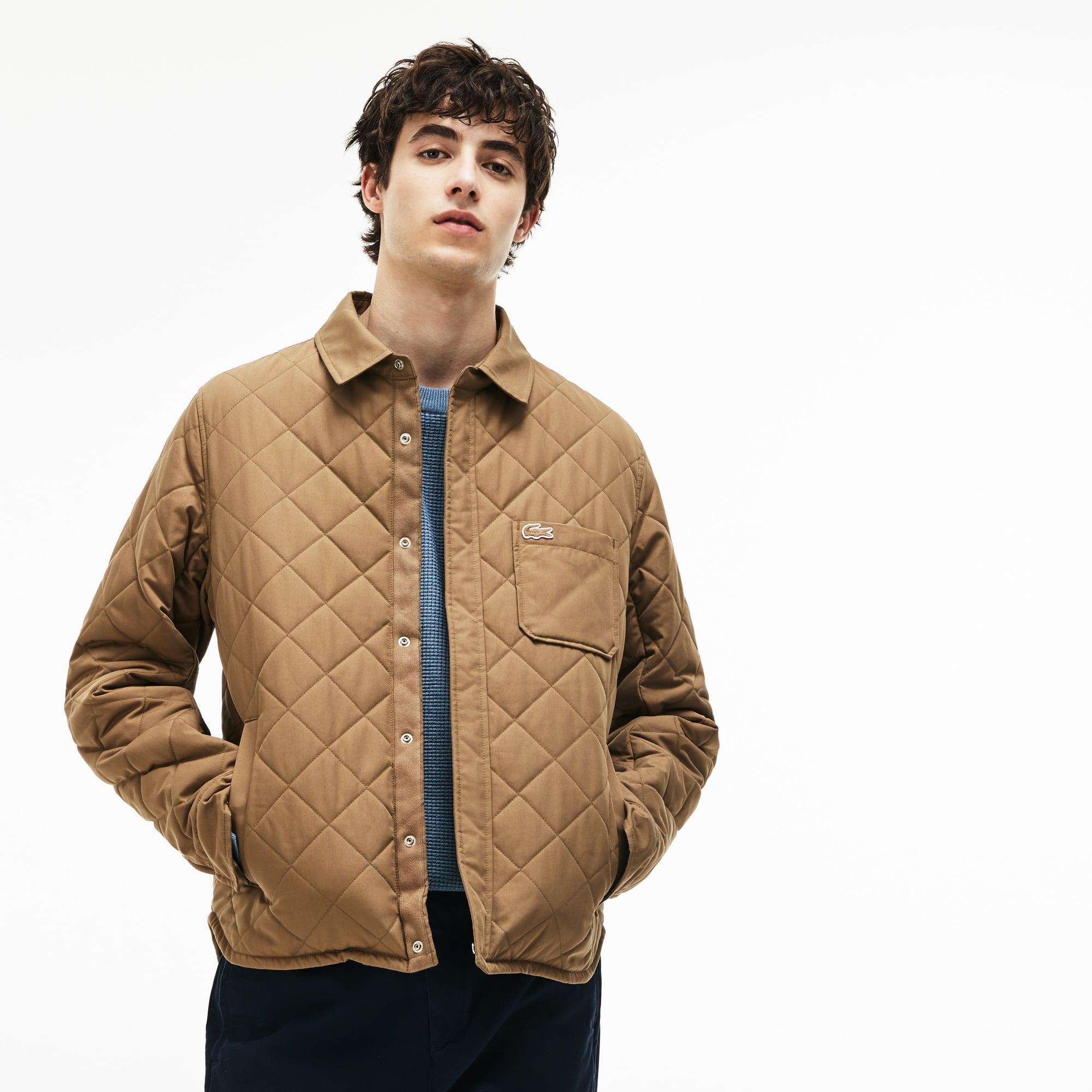 男士短款织纹棉质衍缝夹克