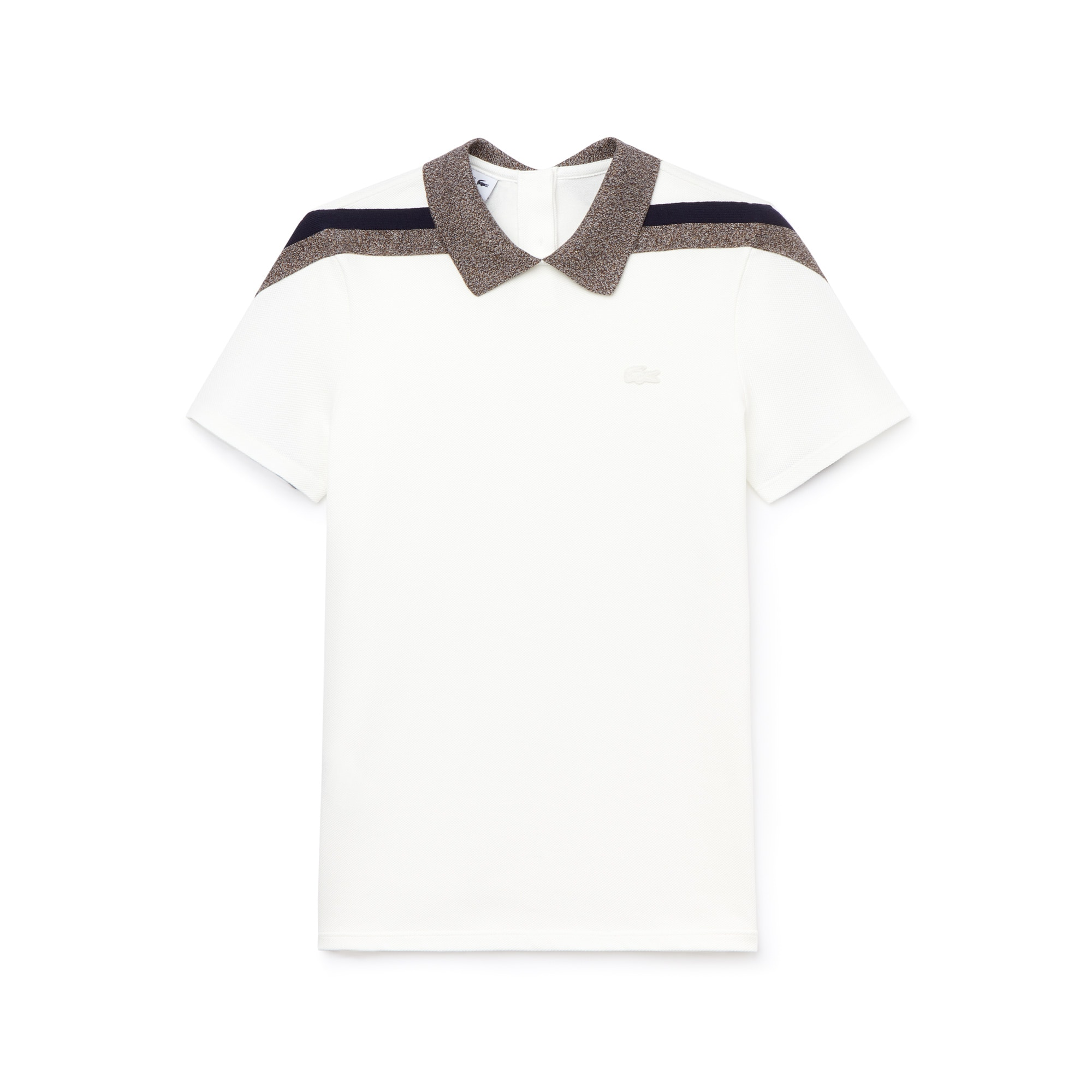 Lacoste Motion系列三色凸纹网眼面料女士高雅Polo衫