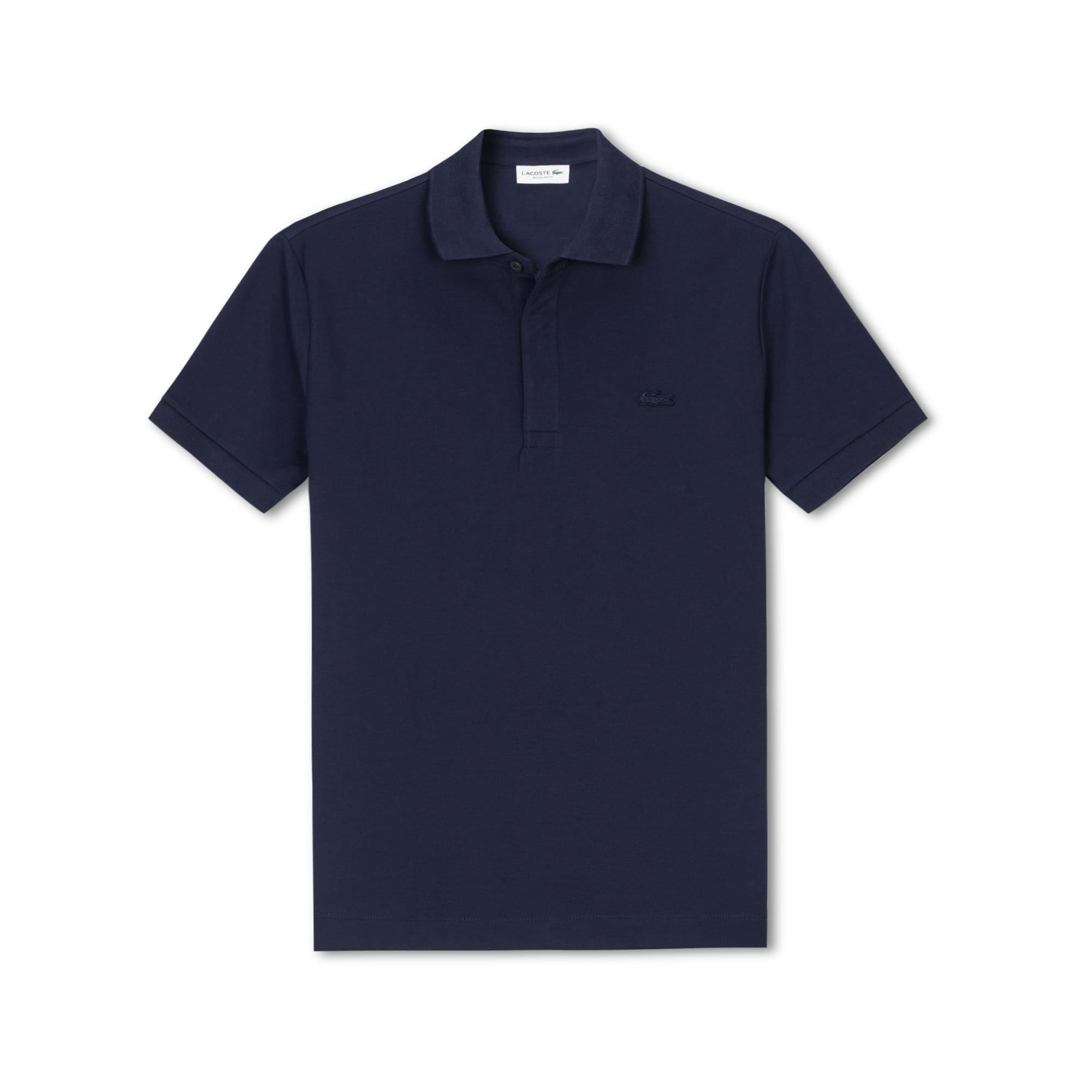 Lacoste常规版弹力棉凸纹网眼面料男士Paris Polo衫
