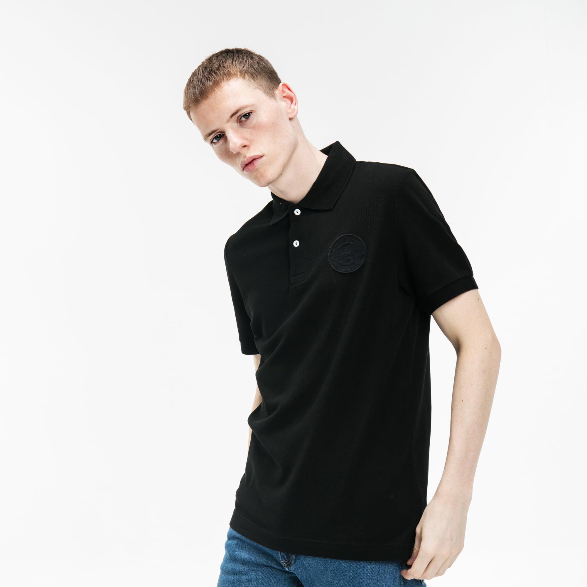 男士Lacoste LIVE常规款褪色轻薄凸纹网眼面料Polo衫
