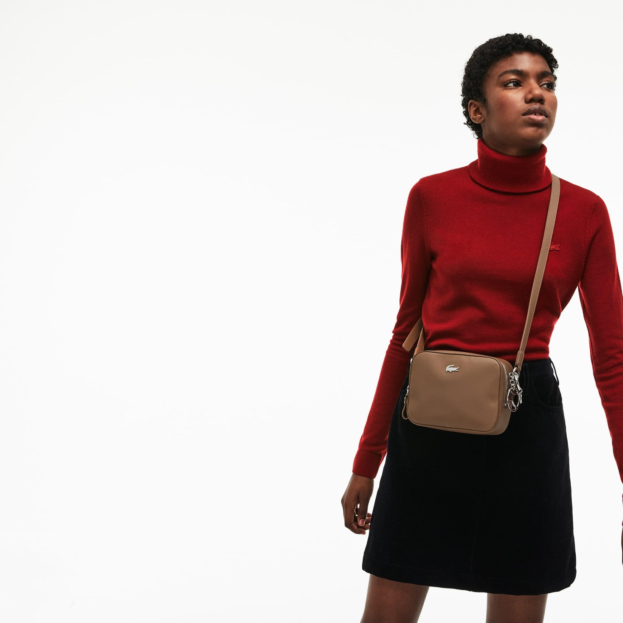 女士日常经典系列涂层凸纹网眼帆布正方形包