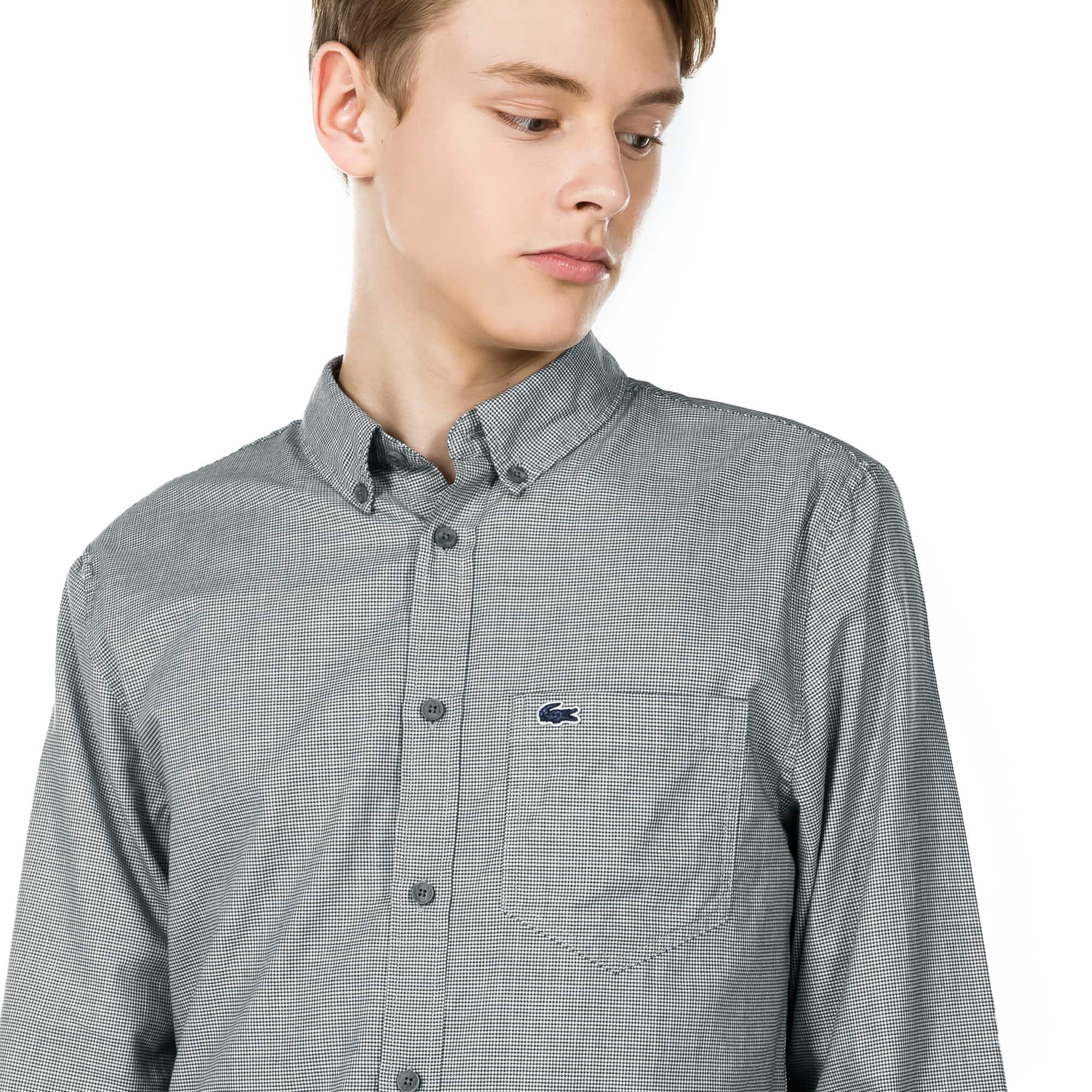 (남성) 라코스테 포플린 나노 하운드투스 슬림 셔츠