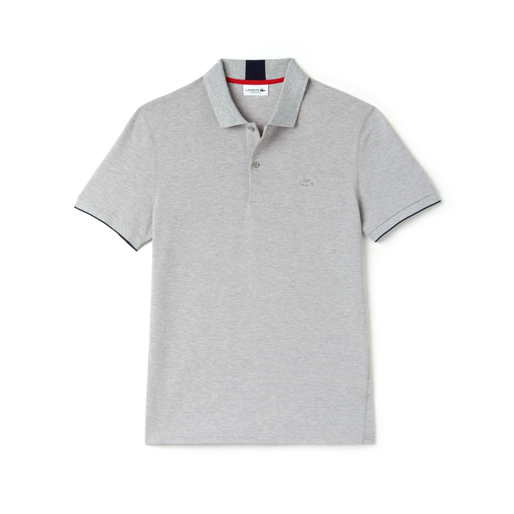 Lacoste Motion系列男士常规版科技小凸纹网眼面料Polo衫