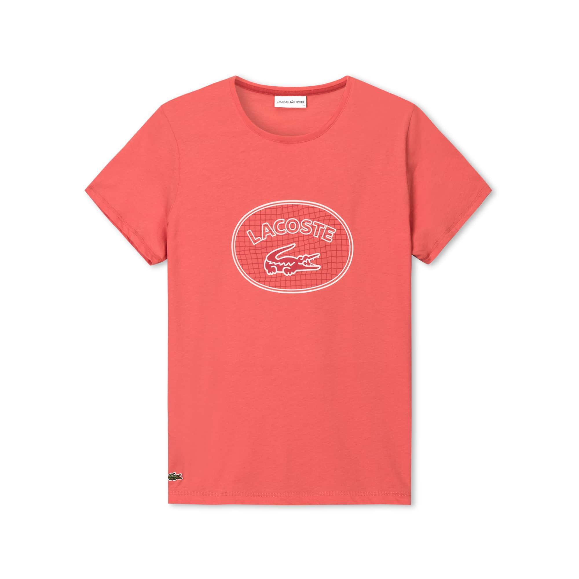 Lacoste SPORT女士大标志设计平纹单面针织网球T恤