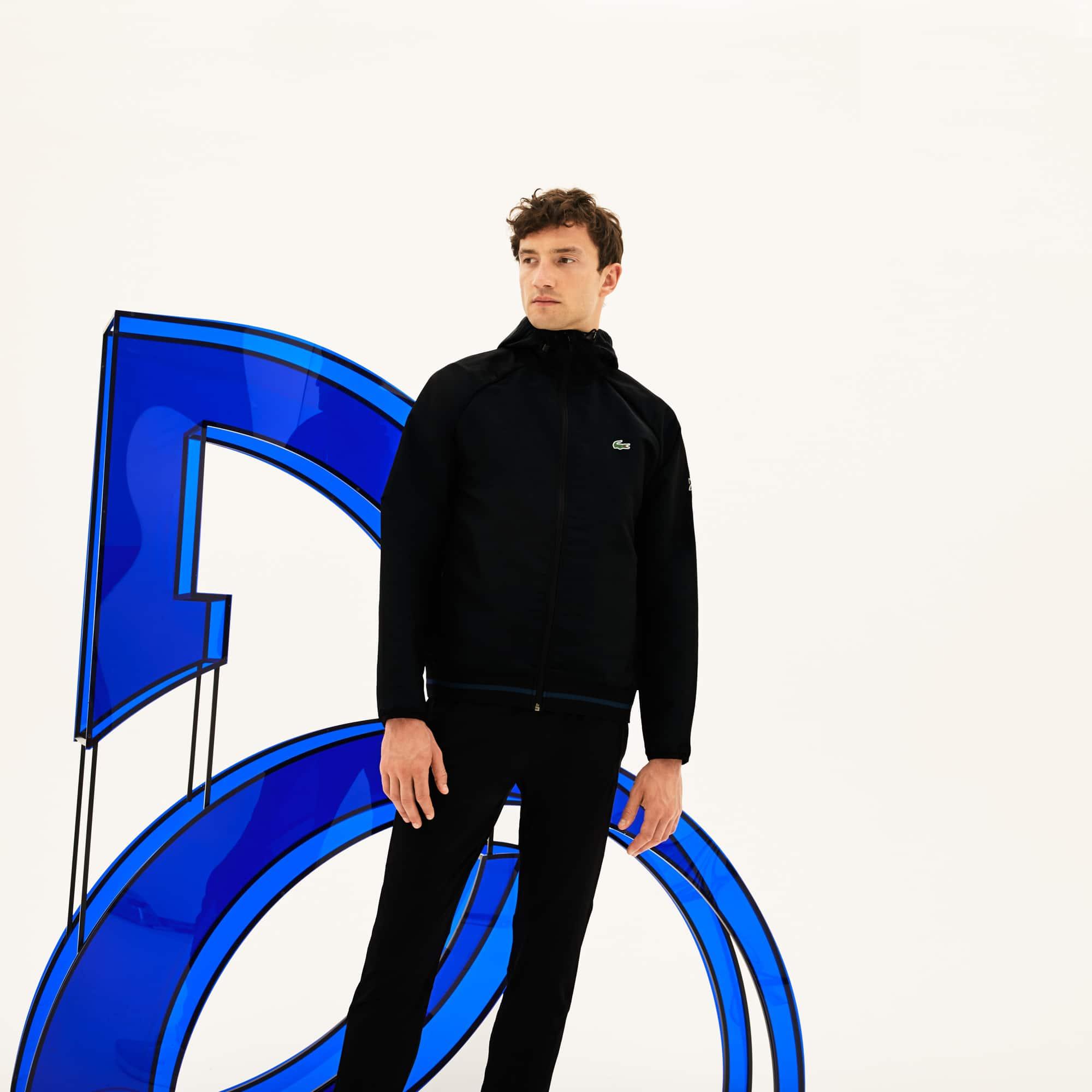 Lacoste SPORT系列诺瓦克德约科维奇限量合作款男士连帽长袖外套