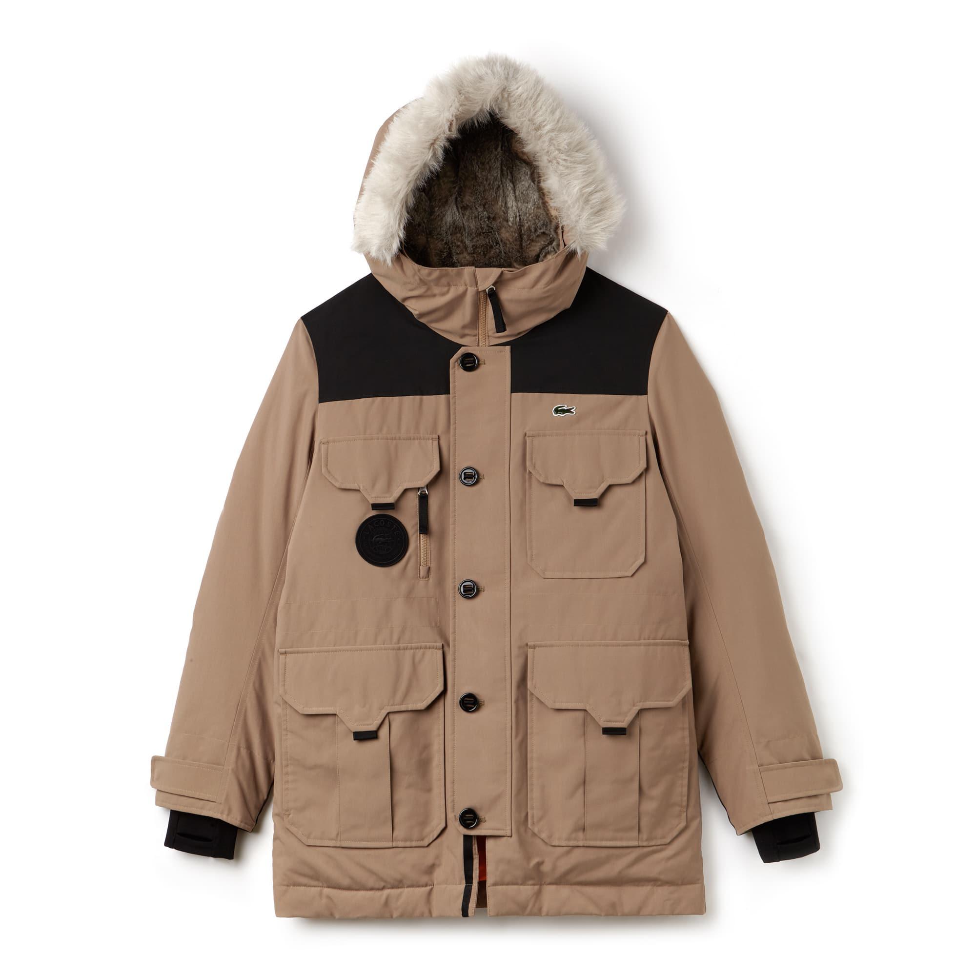 Lacoste LIVE中性版防水帆布绗缝防风夹克