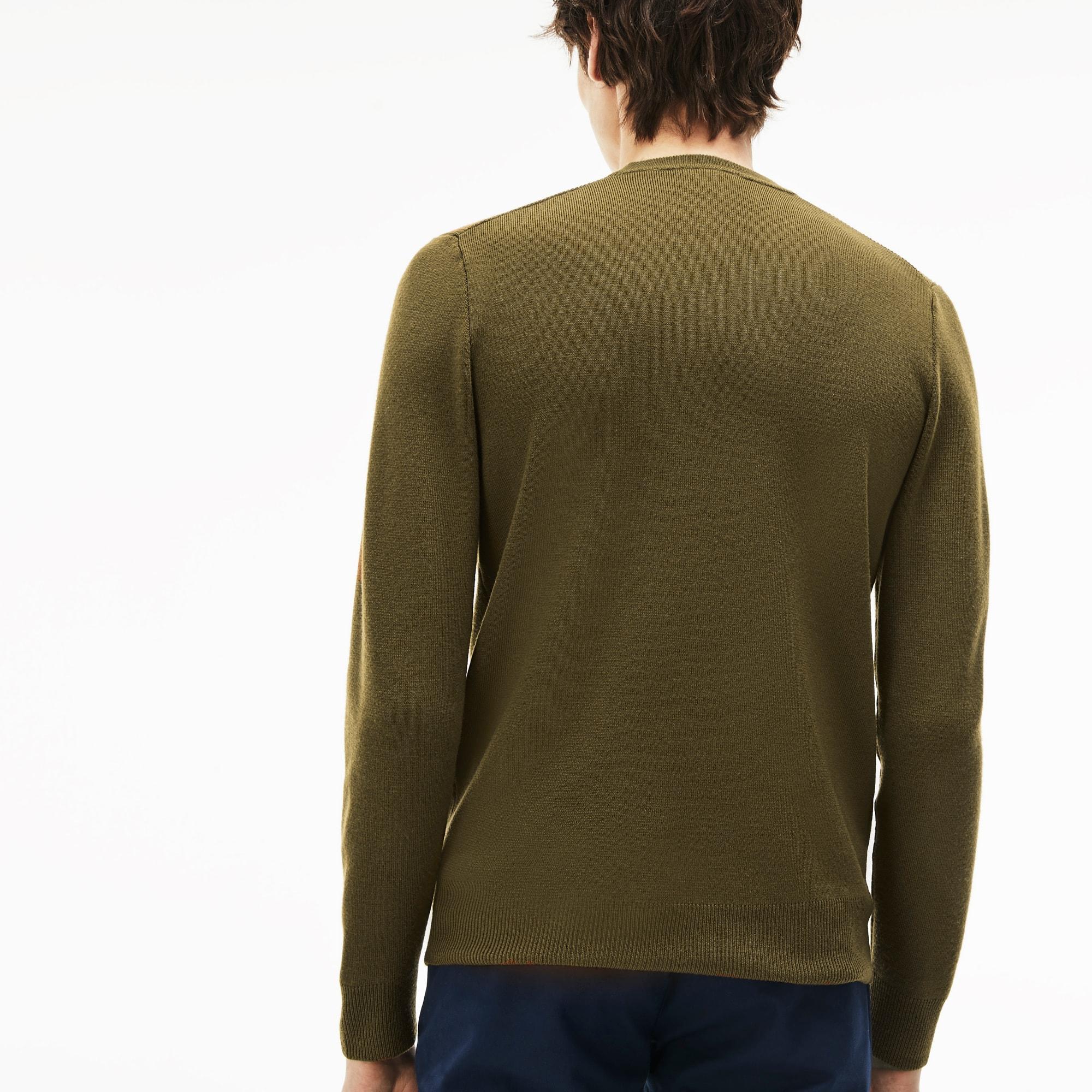 男士圆领科技针织毛衣