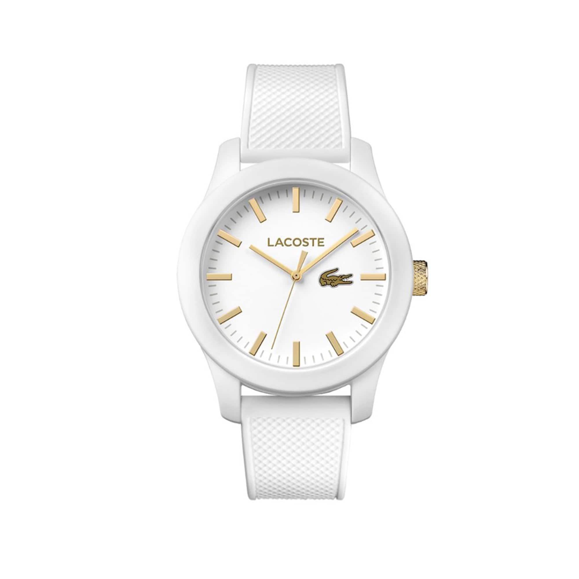 라코스테 L.12.12 watch with white strap