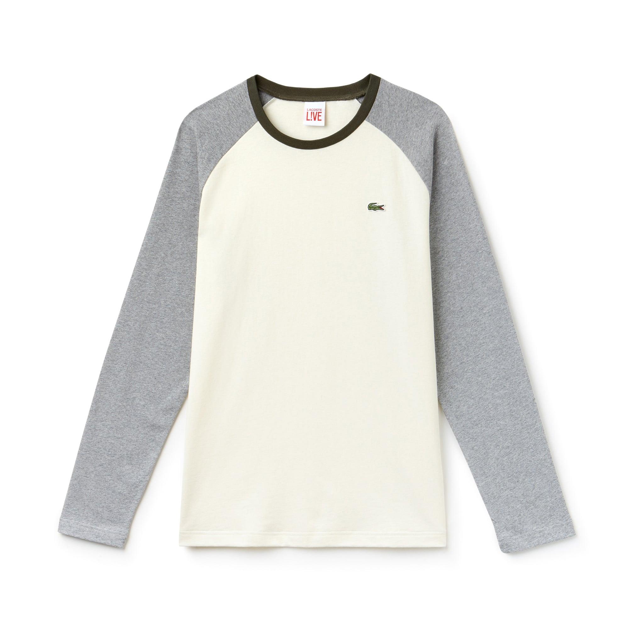 (남녀공용) 라코스테 컬러블럭 저지 베이스볼 티셔츠
