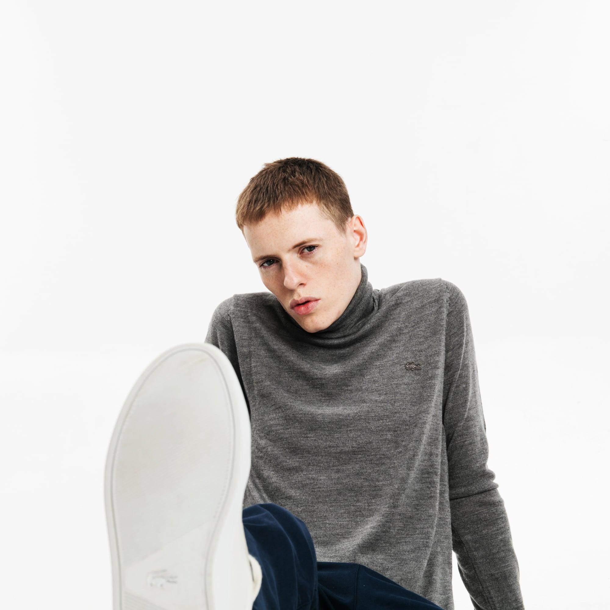 男士高领羊毛针织衫