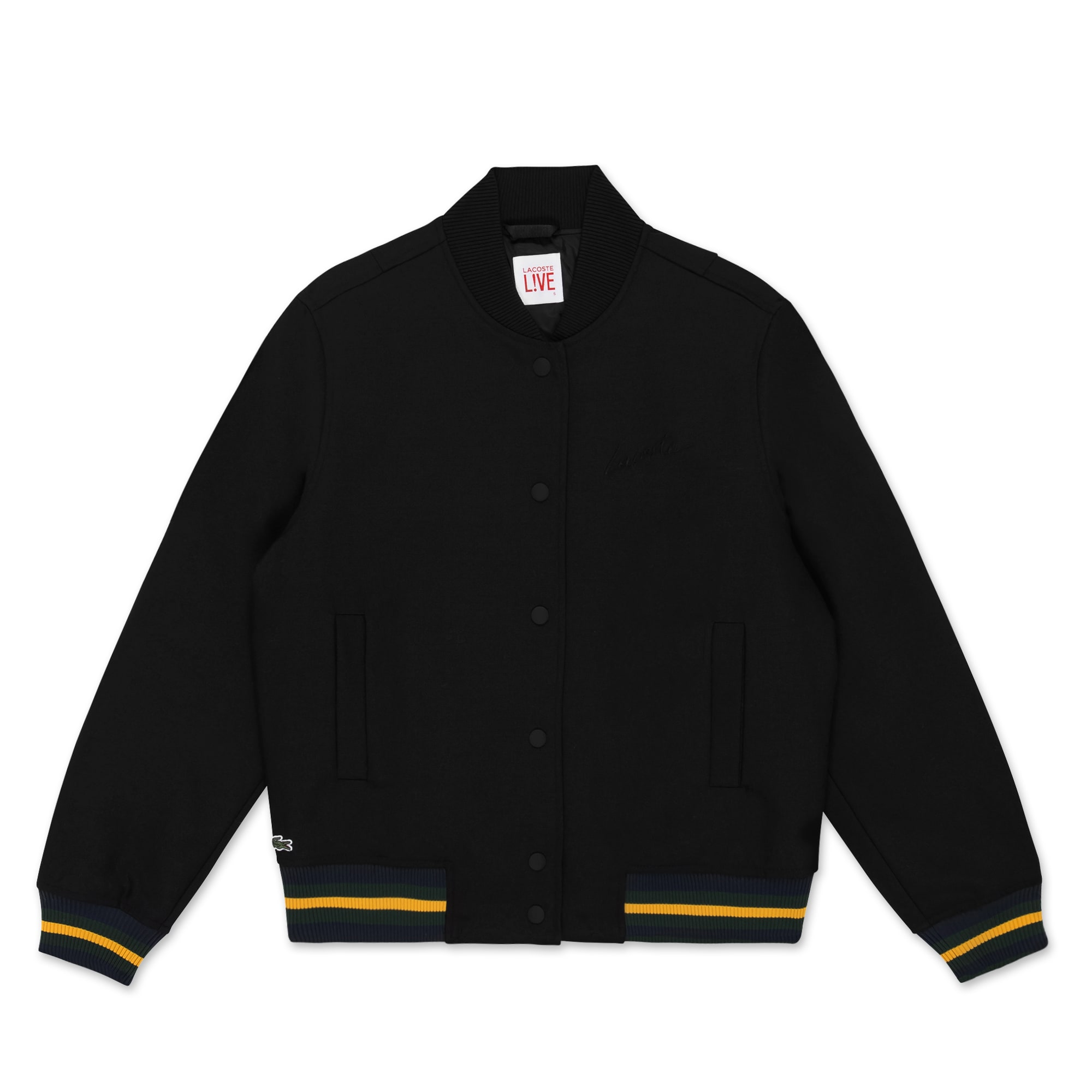 (여성) 배색 포인트 울 트윌 봄버 자켓