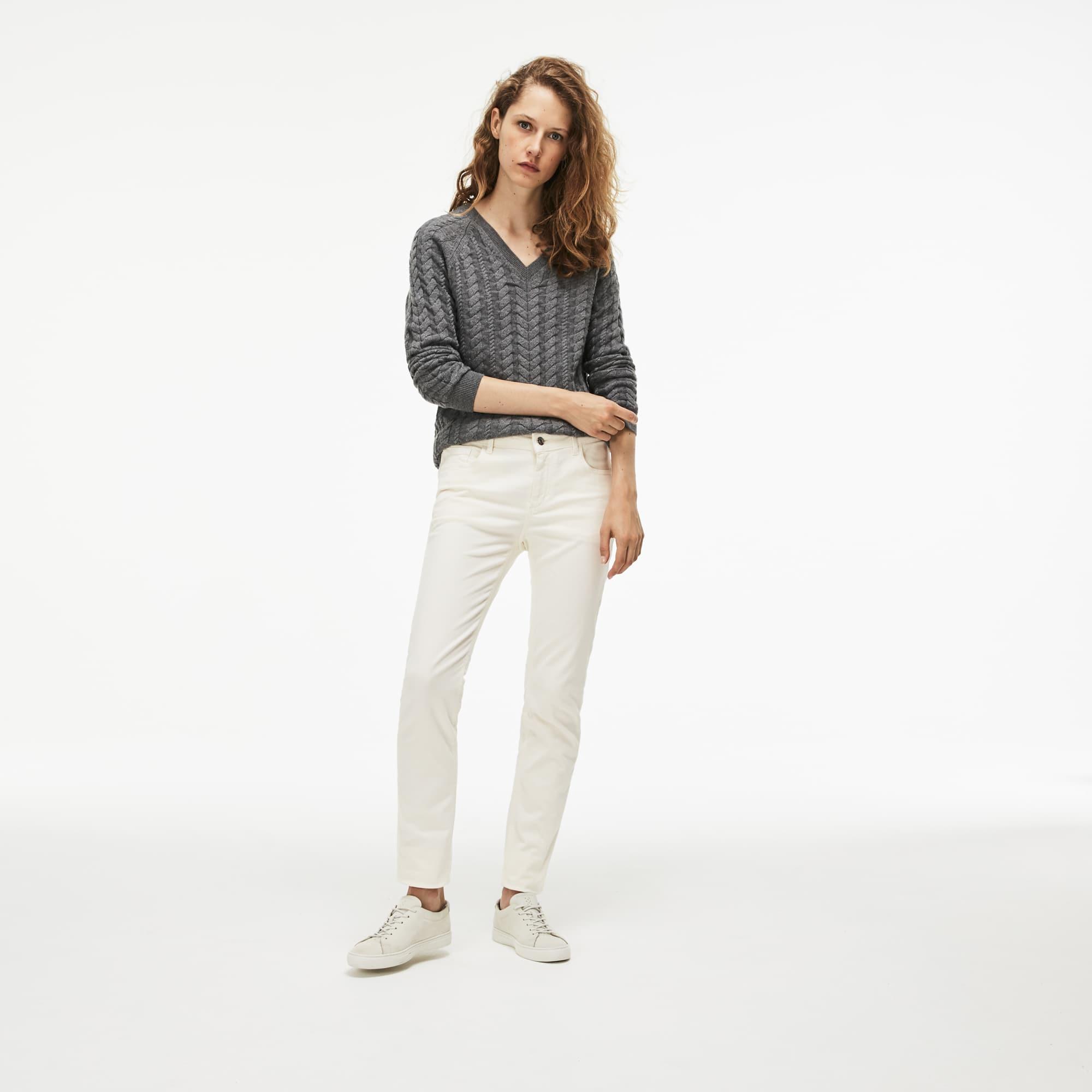 女士修身版棉弹力牛仔裤