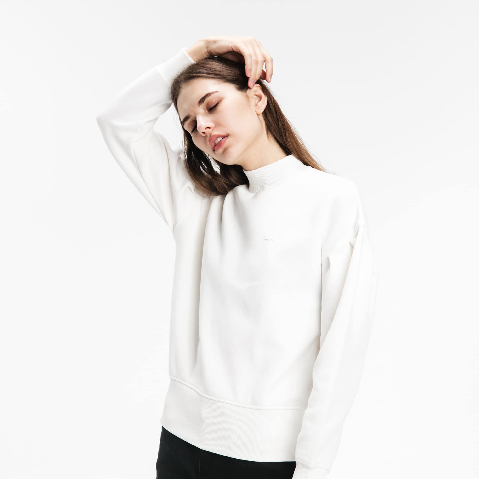 Lacoste LIVE女士泡泡袖套头羊毛运动衫