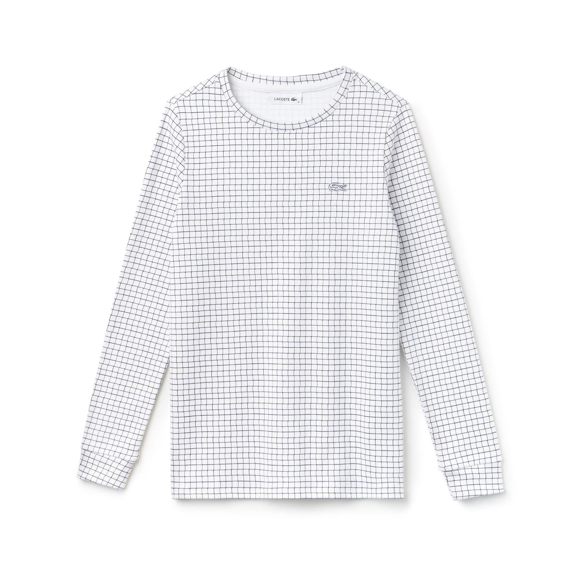 女士棉质网格长袖T恤
