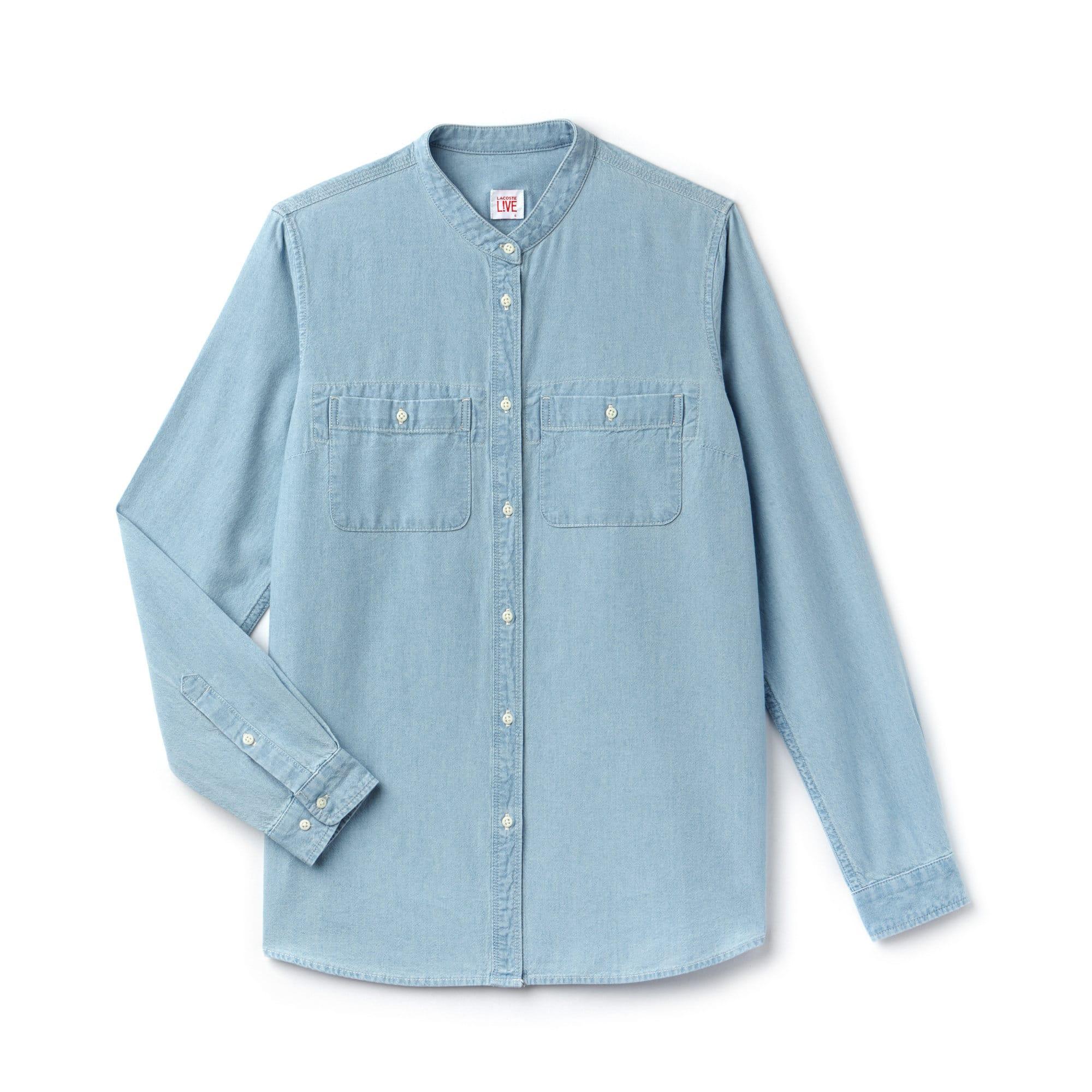 (여성) 라이브 루즈핏 샴브레이 셔츠
