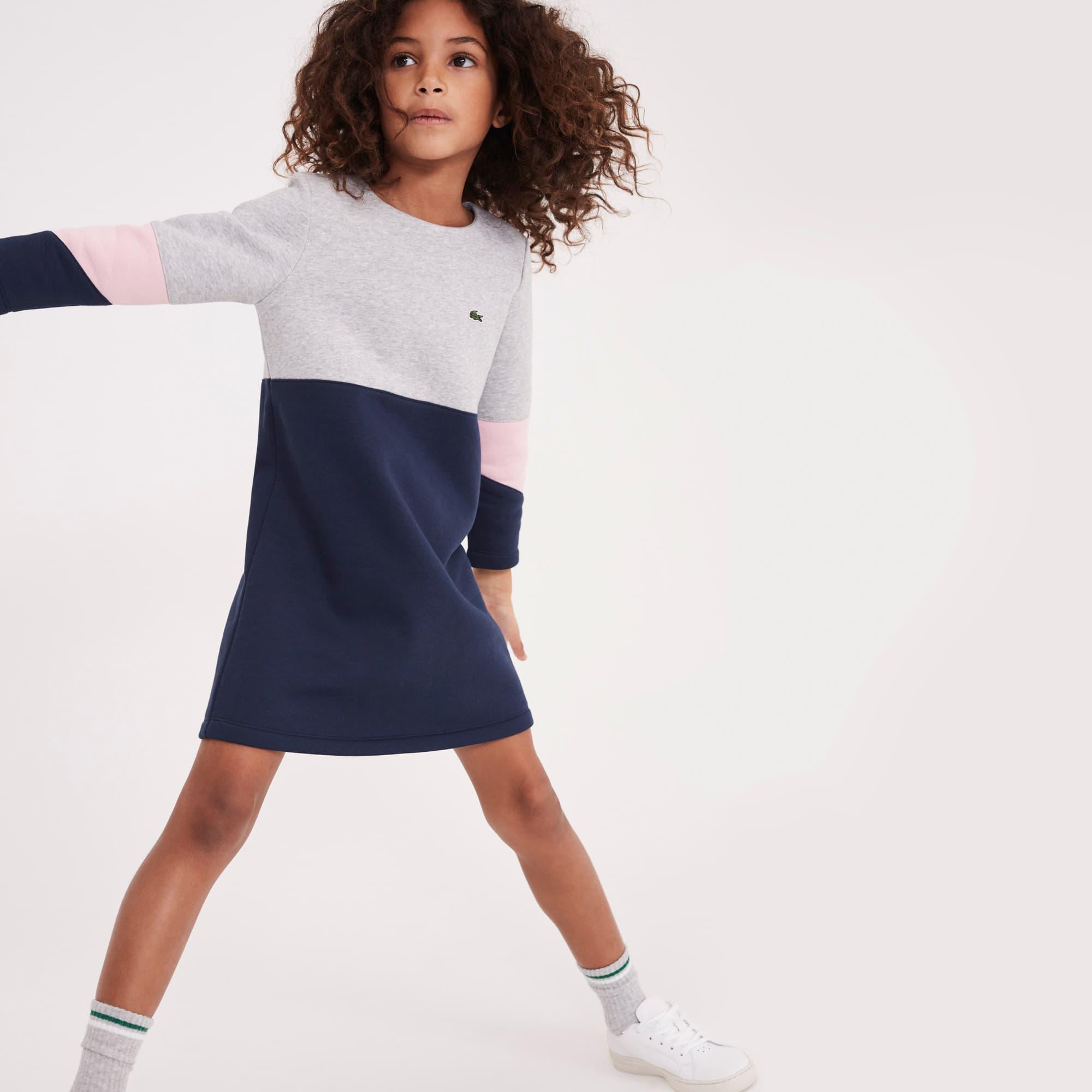 女童拼色羊毛连衣裙