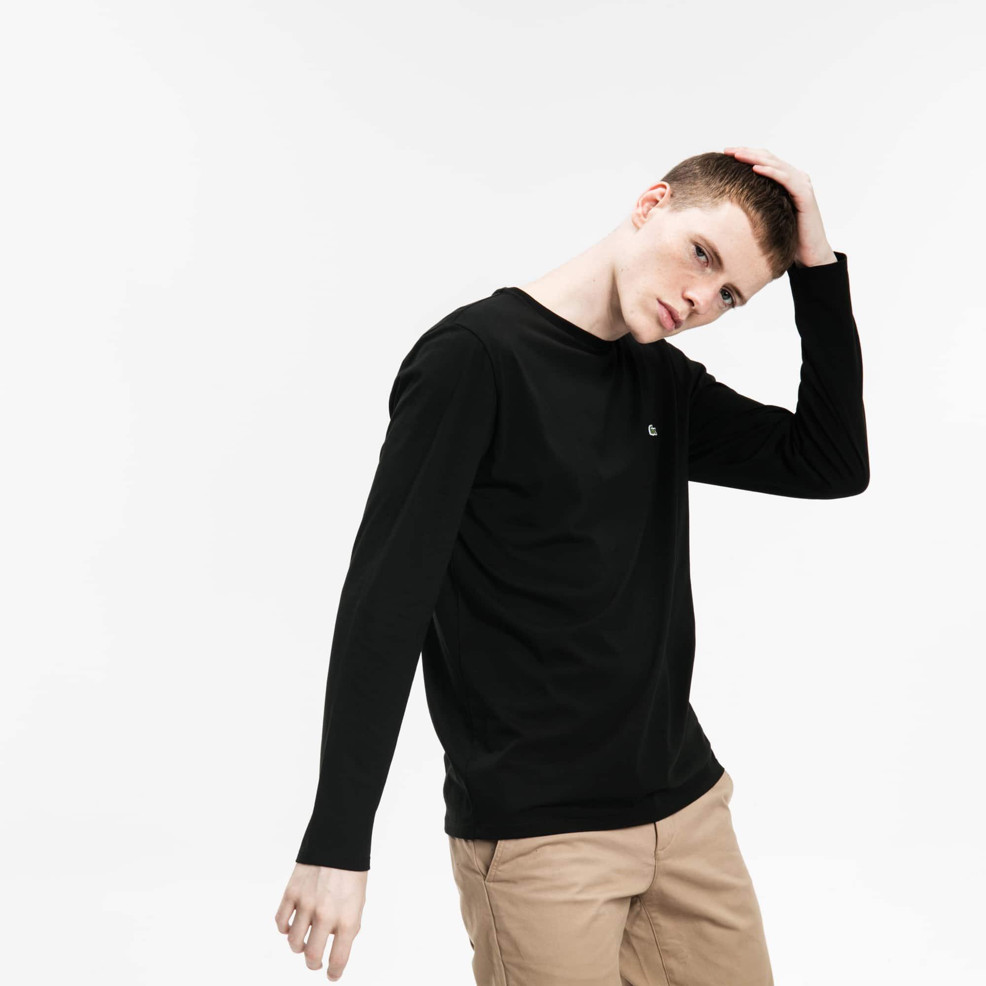 男士圆领皮马棉运动T恤