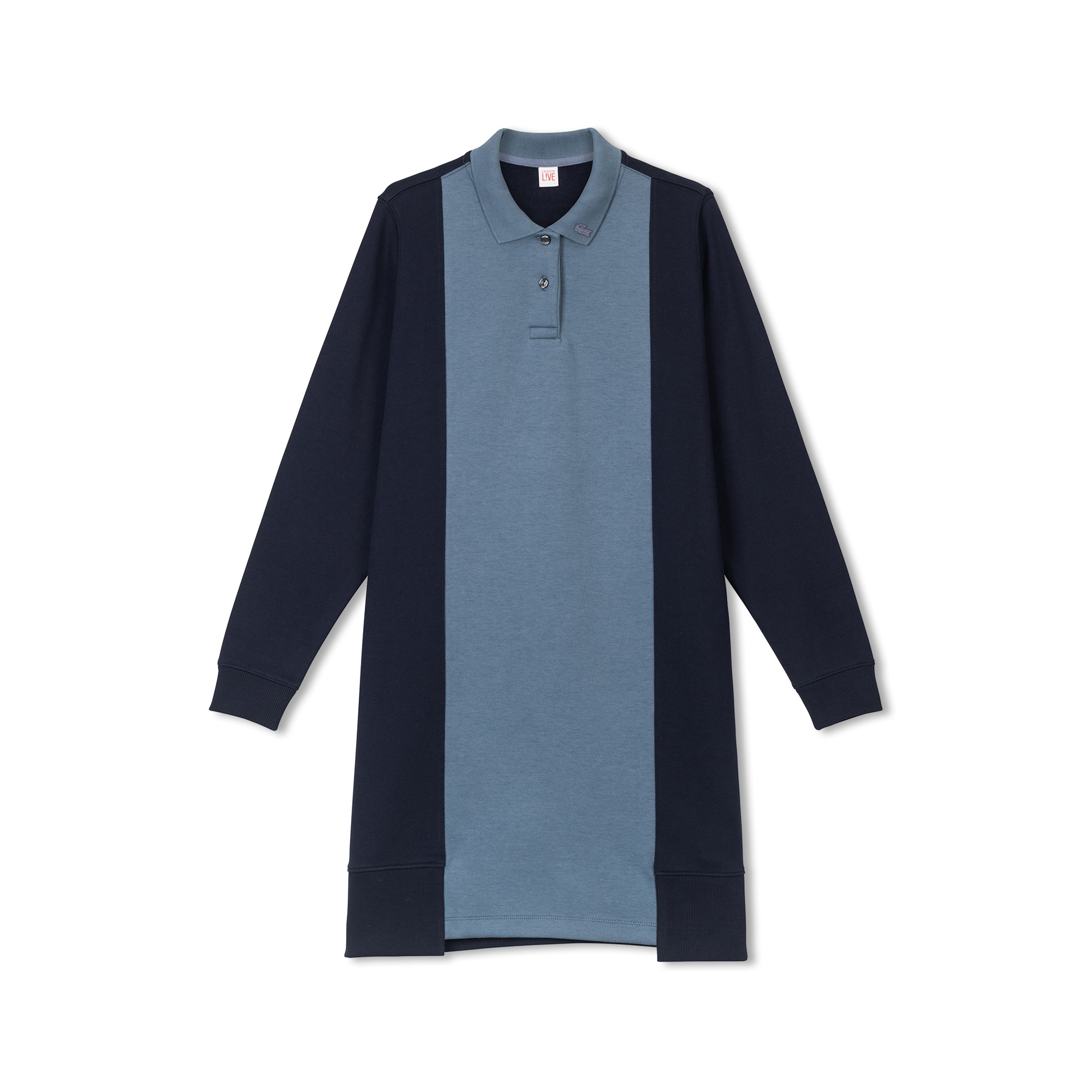 Lacoste LIVE系列撞色布料女士拉绒Polo裙