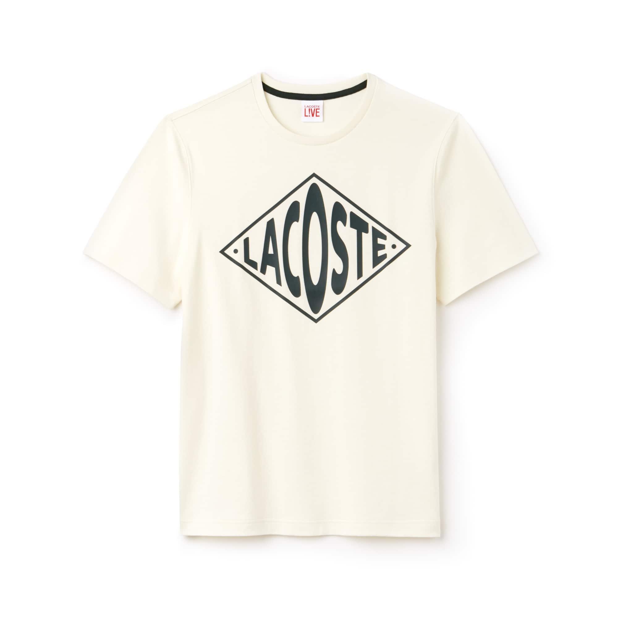Lacoste LIVE系列圆领大号Logo平纹针织面料T恤,男女皆宜