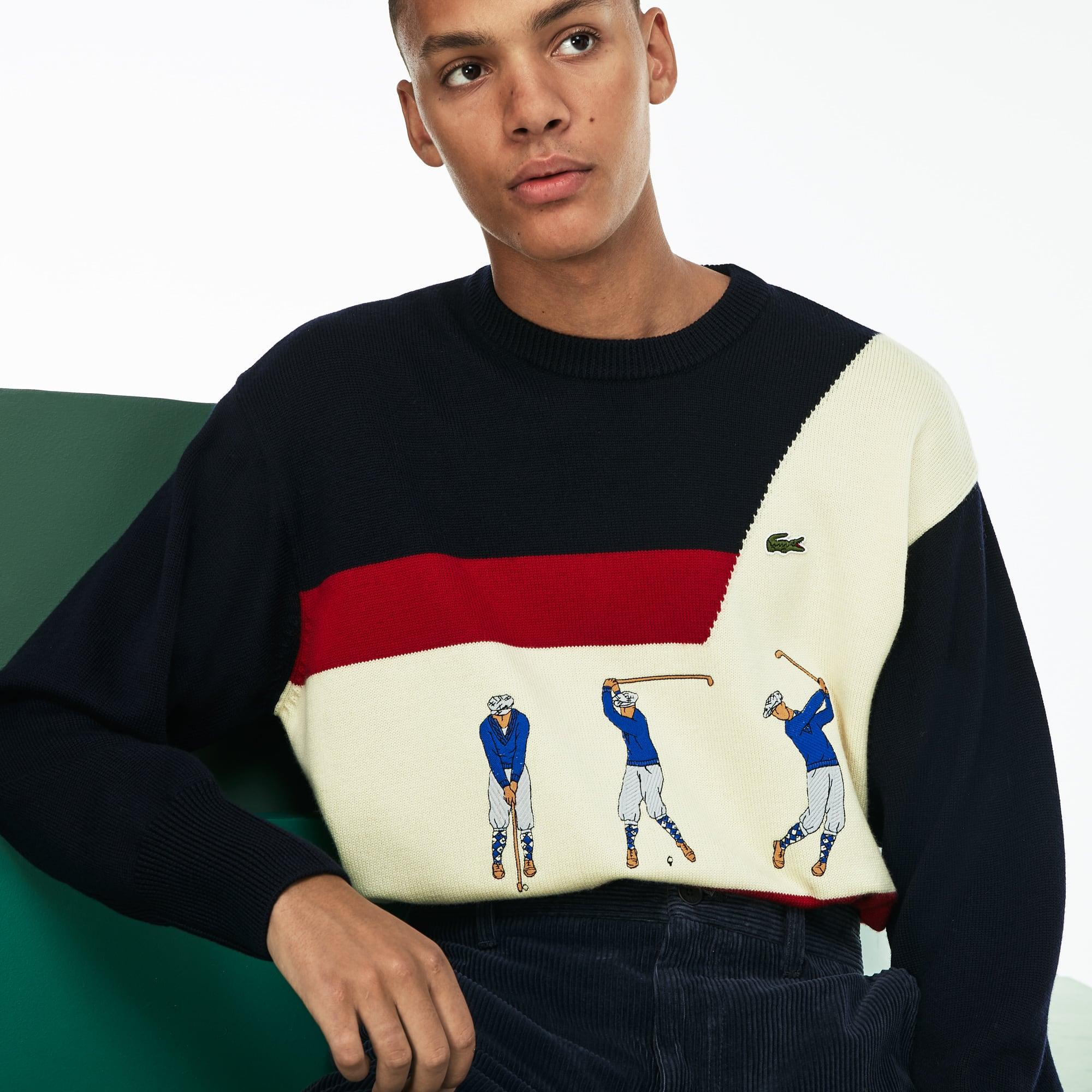 [패션쇼] 남성 크루넥 자수 니트 스웨터