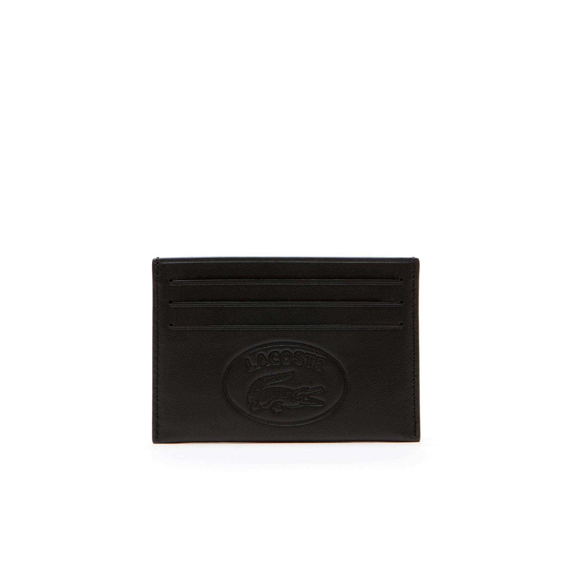 (남성) [L.12.12] 엠보싱 레터링 6 슬롯 레더 카드 홀더