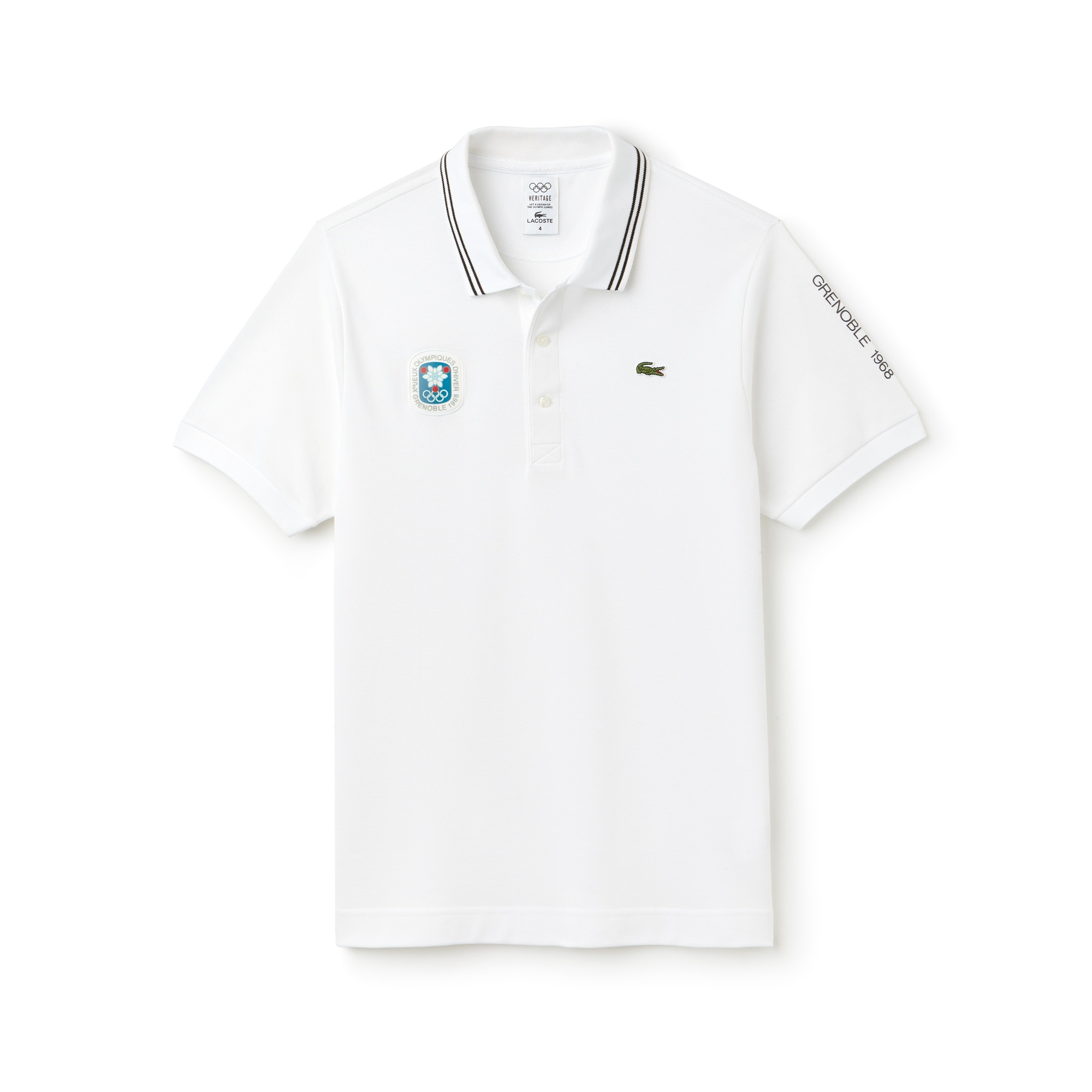Lacoste SPORT系列冬奥会纪念版男士小凸纹网眼面料Polo衫