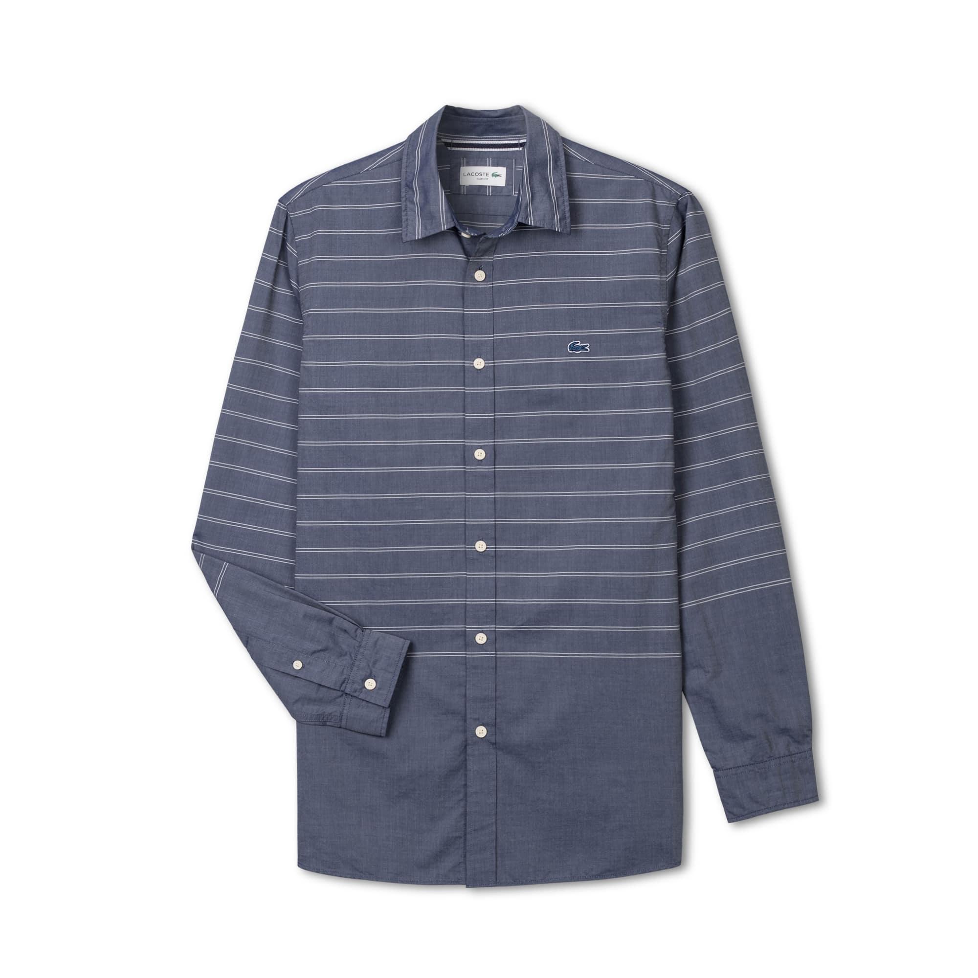 男士长袖棉质衬衫