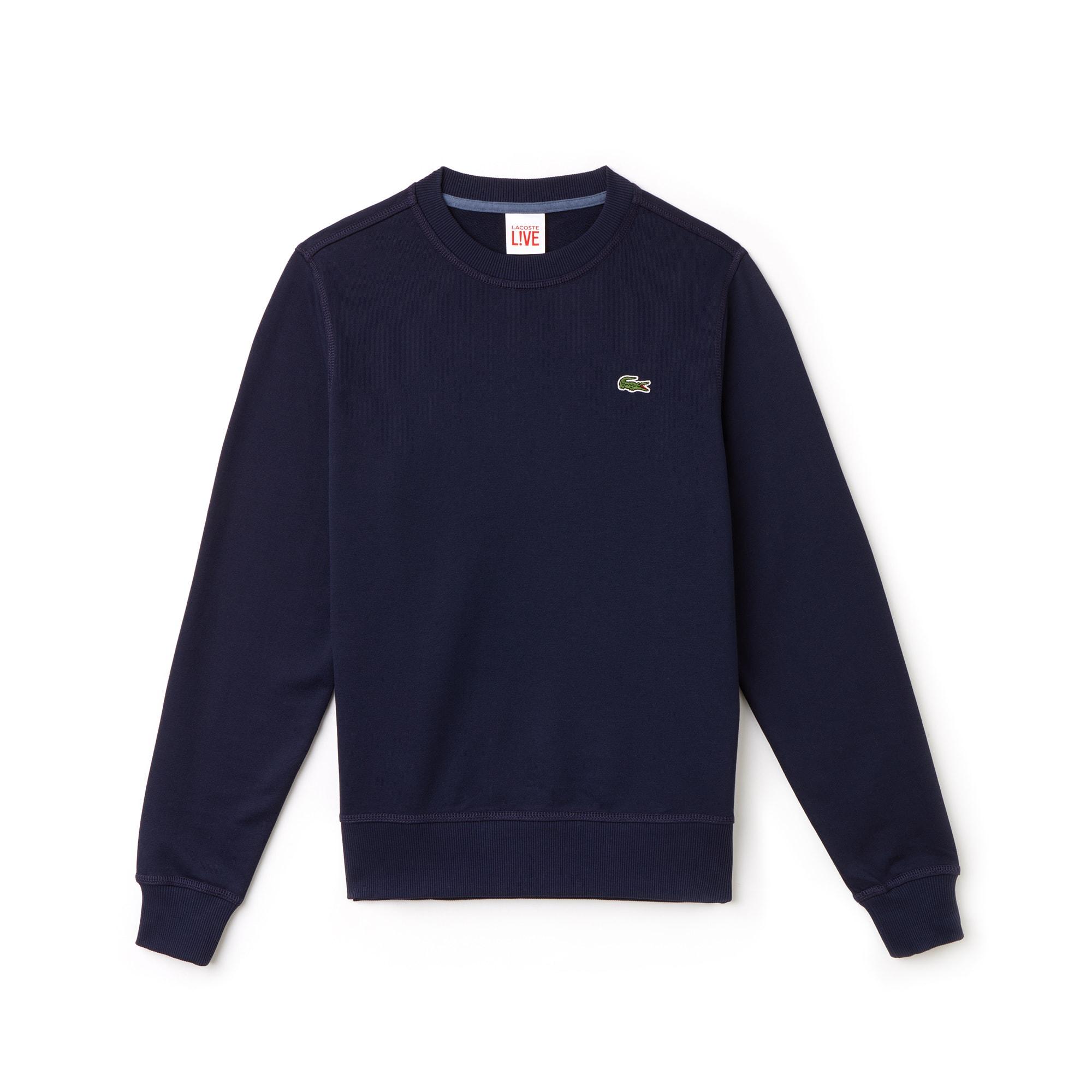 Lacoste LIVE系列圆领棉质拉绒运动衫,男女皆宜