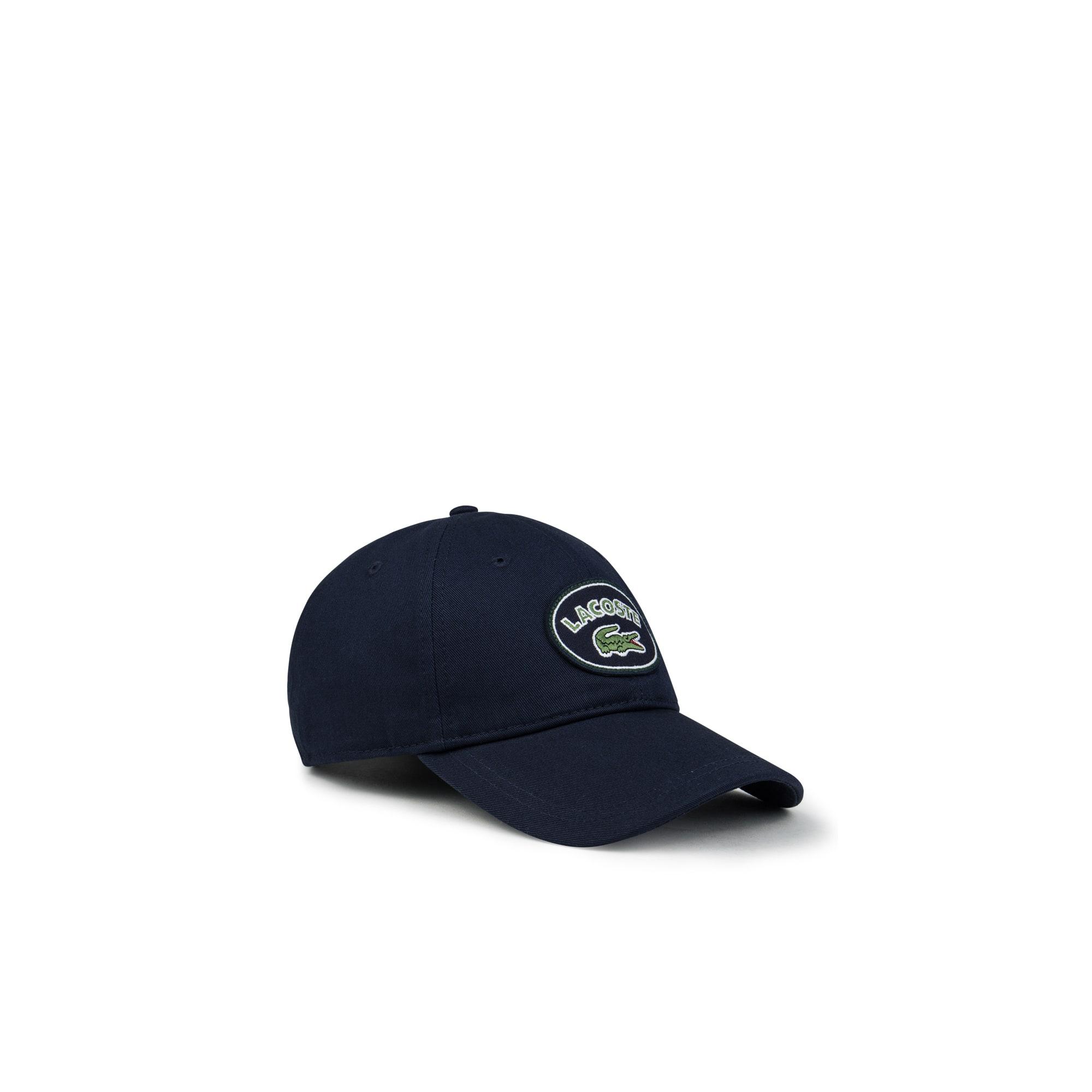 男士Lacoste标识棉质华达呢帽