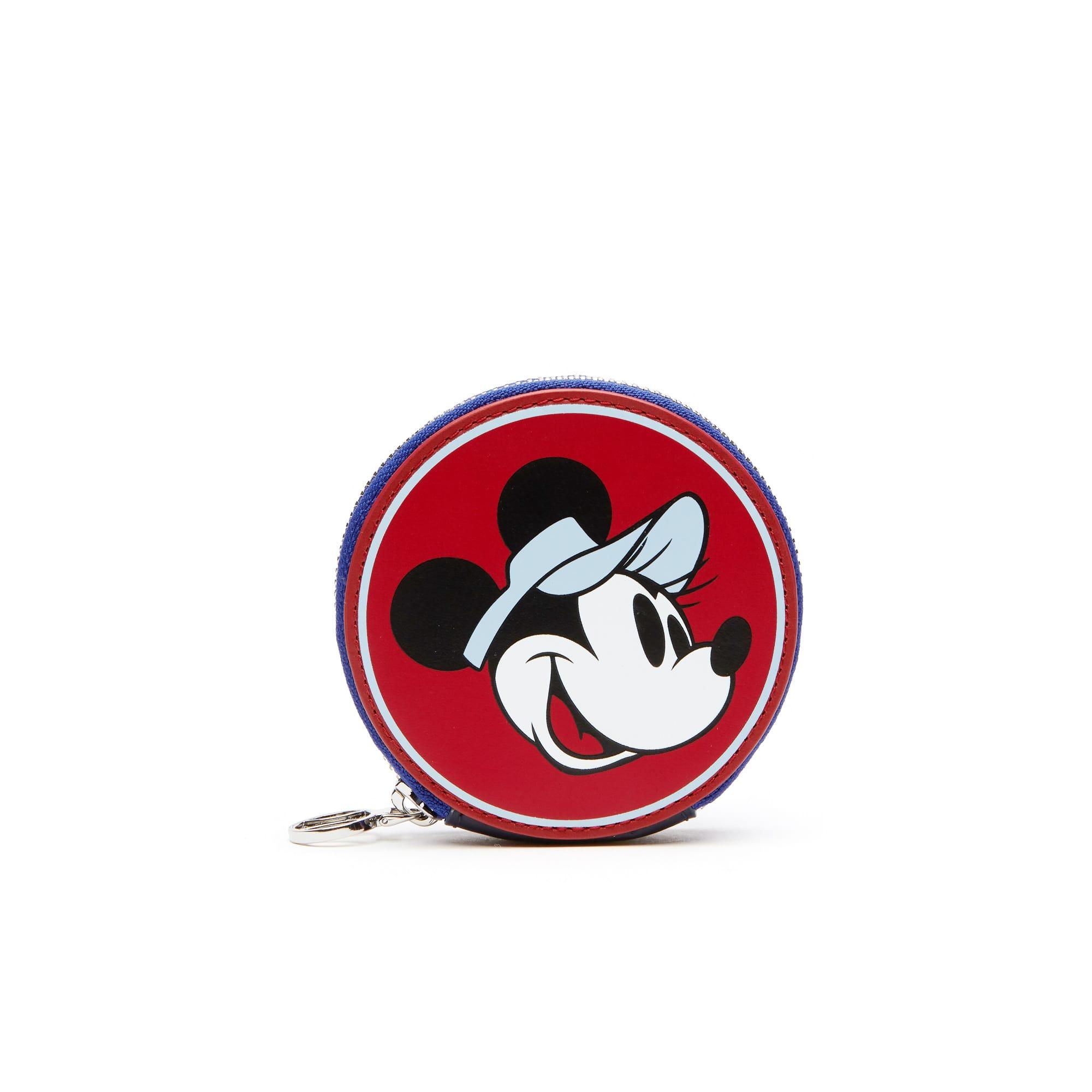 女士迪士尼米妮图案珍藏版度假风皮革零钱包