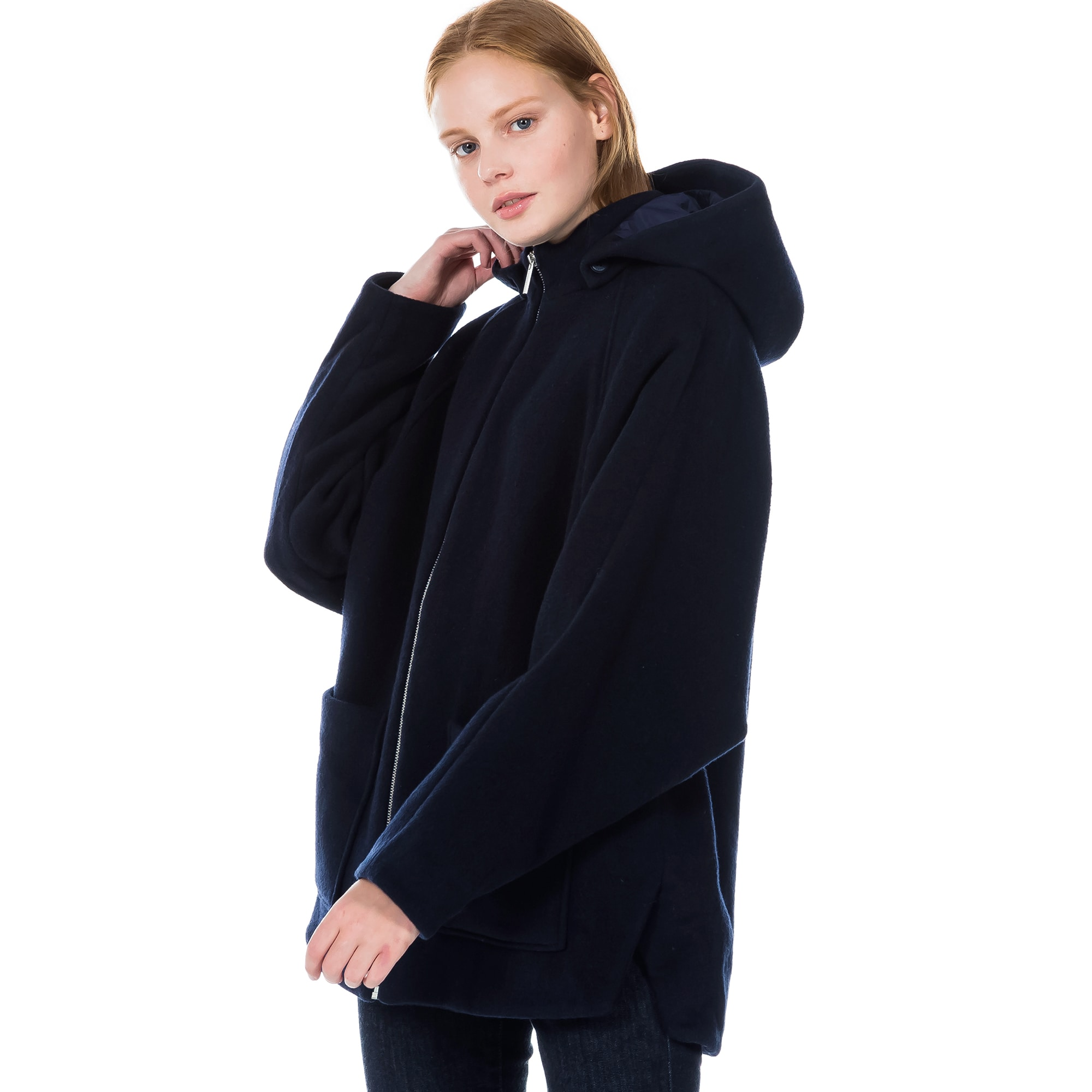 (여성) 라코스테 후드 오버사이즈 코트