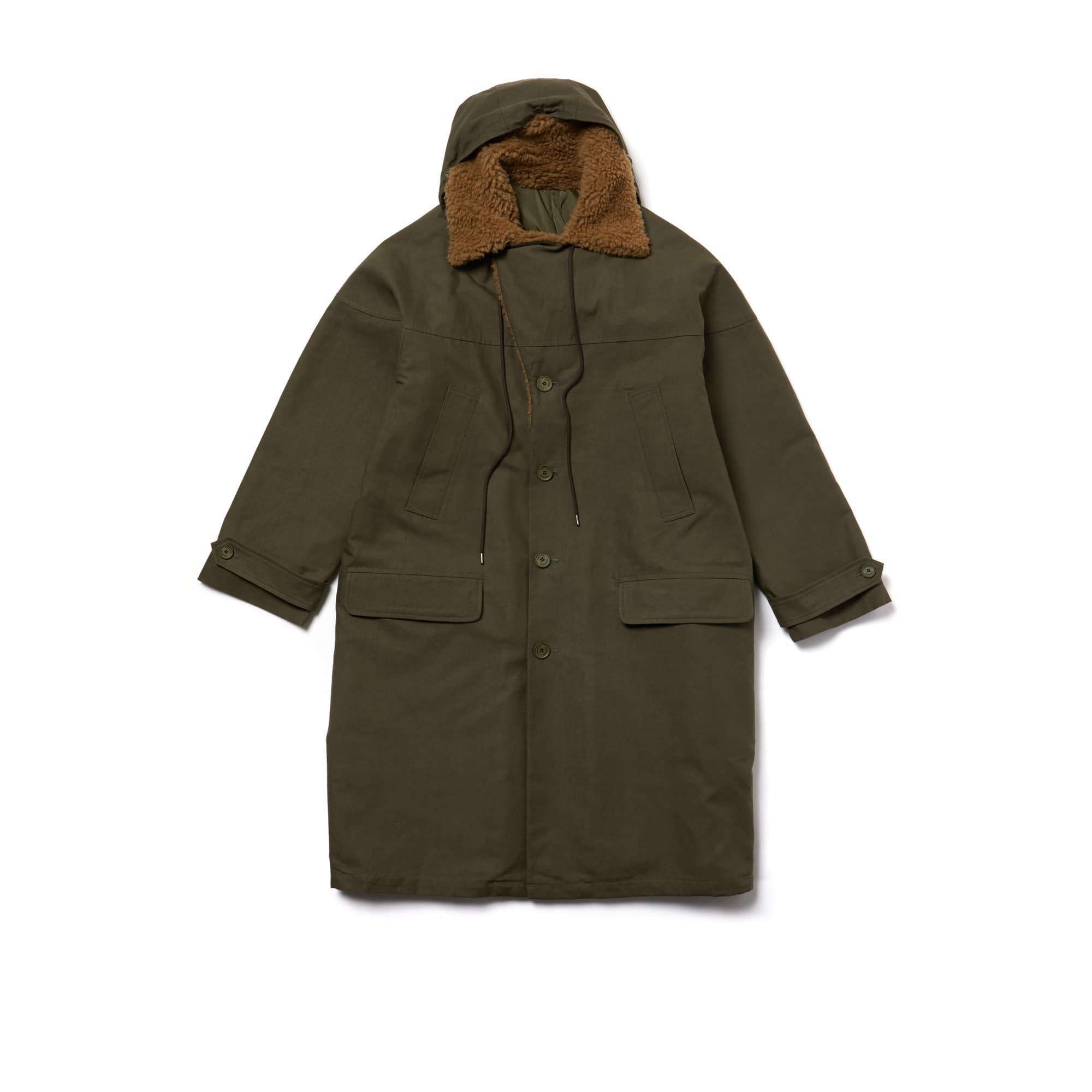 男士双面时尚华达呢科技帆布外套