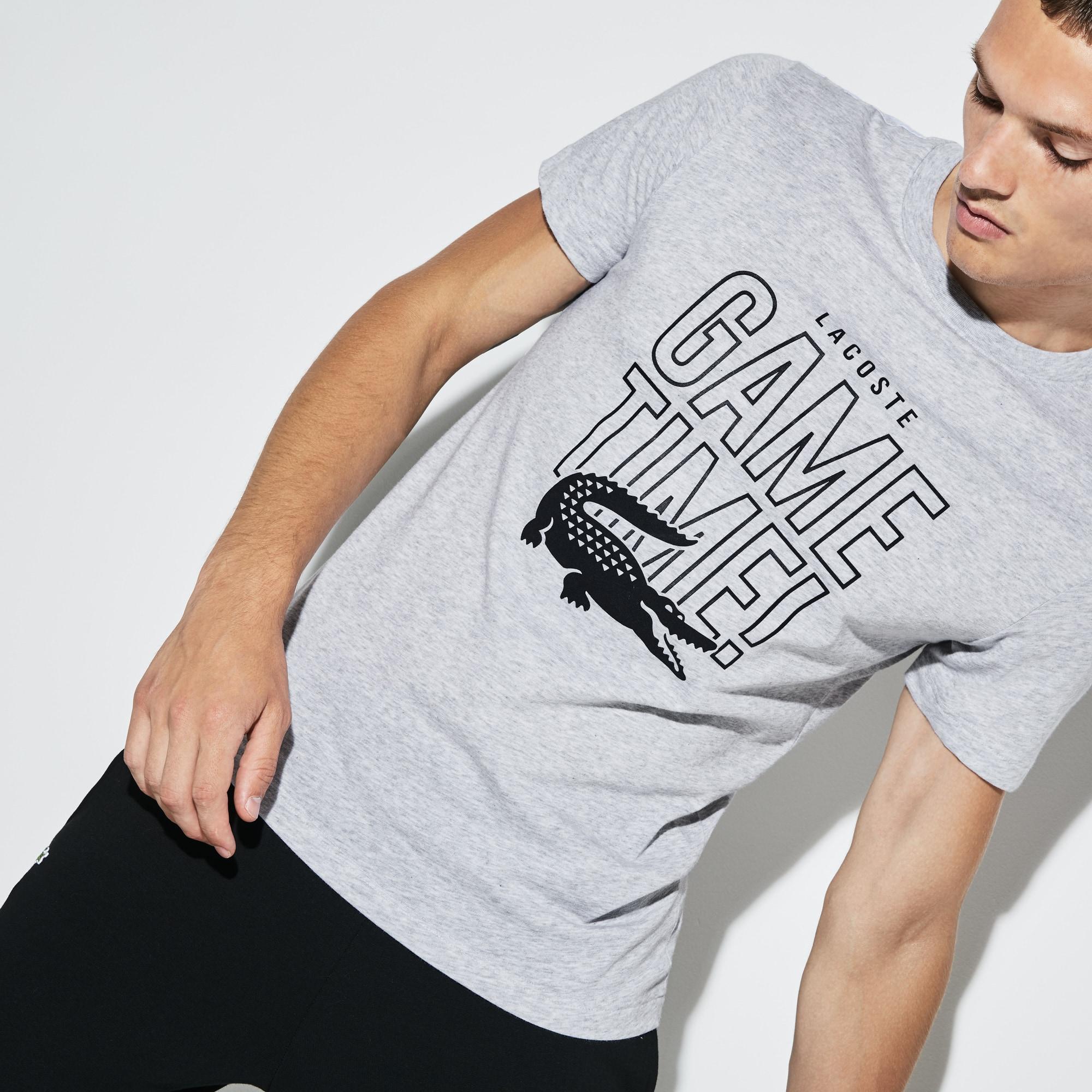 Lacoste SPORT系列比赛用圆领平纹针织面料男士网球T恤